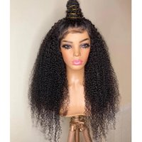 Lace Wigs Afo Kinky Curly Human Hair Front Wig For Black Women Natural Hairline Glueless Preplucked High Ponytail 200%Density Remy
