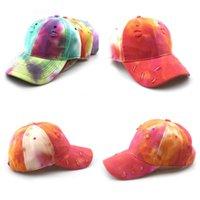 رجل إمرأة قبعة بيسبول قبعة التعادل صبغ ملون الشارع الأزياء الكرة قبعات snapback للرجل امرأة الصيف تعديل الرجعية القبعات بنين بنات snapbacks