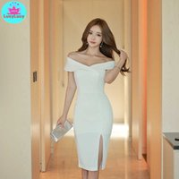 Han edition summer wear sexy one word led asymmetric short-sleeved dress female bag in the hip 210603