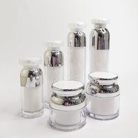 Storage Bottles & Jars 30g 50g 100ml Empty Acrylic Emulsion Essence Vacuum Pump Packing Cosmetics Cream Jar Makeup Containers 10pcs lot