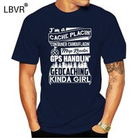 Geocaching Girl T-Shirt Herrendesigns 100% Baumwolle Plus Größe 3XL Cooler berühmter Basis-Sommer-Stil-Buchstaben T-shirt
