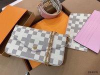 Frauen Luxurys Designer Taschen 2021 Original Box Datum Code Handtaschen Geldbörse Brieftasche Kupplung Schulter Messenger Kreuzkörper Multi Pochette