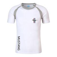 F1 Camiseta Verão Men's Ford Mustang T-shirt Mountain Bike Moto Motor Motorcycle Racing Suit Respirável Rápido Secagem