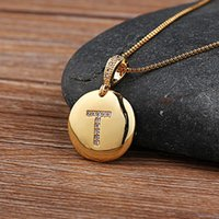 Chains Top Quality Women Girls Initial Letter Necklace Gold Color 26 Letters Charm Necklaces Pendants Copper Jewelry Gift
