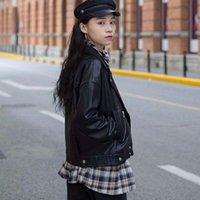 High Street Short Leather Moto Jacket Black Loose Women Outerwear Warm PU Coat Winter Streetwear Female Fashion Tops Women's & Faux