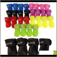 Apparel Supplies Home & Gardenpet Boots Outdoor Non-Slip Durable Pet Shoes Small Dog Waterproof Protective Rain Boot 8 Colors Owd2640 Drop D