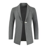Męskie swetry Parklees Męskie Slim Fit Cardigan Sweter Płaszcz Turn-Down Collar Zewnętrzne Zużycie Knit One Buttive Casual Knitwear