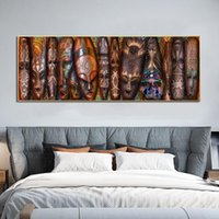 Paintings African Masks Posters Canvas Prints Abstarct Faces Wall Art Pictures For Living Room Modern Home Decor Decorative