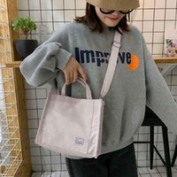 HBP 2021 Women Corduroy Handbag Cotton Canvas Zipper Shoulder Bag Casual Tote Female Eco Crossbody Bag Vintage Messenger Bags