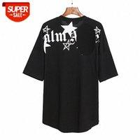 PA Brand Angel Couple Bianco e nero Stampa stella stampa T-shirt manica corta Ins Unisex Top # GD60