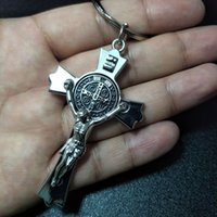 Key Rings Jesus Cross Keychains Christian Religion Chains Fashion Jewelry Accessories Gift 2021 Bag Charm Car Keyring for Men Women