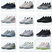 2021 AirVapormaxs Sommar FK Mäns Flyknits Sneaker Running Shoe Grå Neon Flytta till Noll Lokal Online Store Aqua Mango Ångor Blå Män Kvinnor Sport Dropshipping Accepteras
