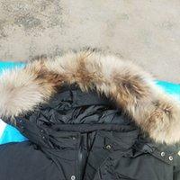 Invierno Parka Outerwear Wolf Fur Capucha 2021 Canadá Down Chaqueta Top Calidad 1: 1 Abrigo HIVER Doudoune 90% Blanco Ganso Abajo Pelo Lobo Pelo Lobo