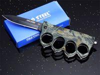 Acero frío Suifeng Knuckle Duster 7CR17MOV Pocket Cuchillo plegable Cuchillo de camuflaje Manija al aire libre Tactical Camping Hunting Survival Edc Colección Cuchillos