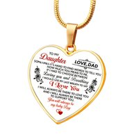 Eurornament ожерелье для моего сына дочь отца мама персиковый сплав подвеска брелок любви семьи ожерелье семьи