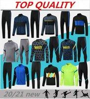 2020 2021 Lautaro Football Tracksuit Jackets Kits 20/21 Survetement Alexis ميلان Lukaku كرة القدم التدريب دعوى رياضية سترة مجموعة