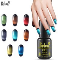 BHEN 8ML Edelstein UV LED Cat Eye Magne Nagel Gel Polnisch Translucent Candy Color Black Base Lack Hybrid Lackglas
