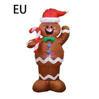 Christmas Props Inflatable Toys Gingerbread Santa Claus Shape Model Funny Performance Party Decoration