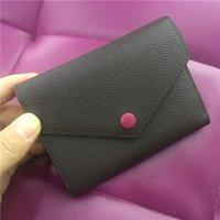 Kalite Gerçek Kutu Kadınlar Fermuar L152 Tasarımcı Deri Lüks Üst Çok Renkli Kısa Cüzdan Kart Çantalar Klasik Orijinal Cep Tutucu Walle QCFD