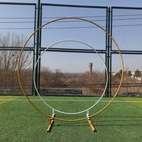 Party Decoration Circle Backdrop Stand Wedding Arch Background Wrought Iron Shelf Round Frame Balloon