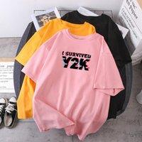 Women's T-Shirt I Survive Y2K Print Woman T-shirts Short Sleeve Fashion Female O-neck Summer Lady Clothing Streetwear High Quality Camisetas