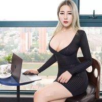 Transparente Nachtclub Fantasie Erotische Tragen Sexy Frauen Tight Bleistift Nettes Kleid Durchsichtigiges Micro Mini Bodycon Casual Kleider