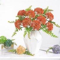 Decorative Flowers & Wreaths Artificial Wedding Decoration Bride Hydrangea Bouquet Fake Living Room Home Decor Garden Outdoor Accessories