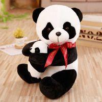 Mon Lapinou Plush Panda игрушки игрушки милые фаршированные симуляторы животные мягкие куклы жизни панда обнять маленькую панду детские игрушки детский подарок q0727