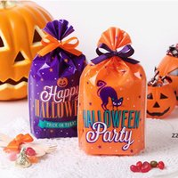 50pcs/lot Halloween Cartoon Cookie Party Decoration Bag Small Gift Jewelry Packaging Bags Food Flat Pocket HWB10291