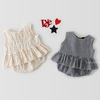 ZHBB INS Korean Australia Baby Girls Clothing Sets Summer Plaid Sleeveless Tees with Shorts 2pieces Infant Toddler Outfits