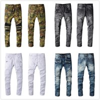 2021 Mens Fashion jean Skinny Straight Slim Ripped men street wear Motorcycle Biker man 957 jeans pants size 28-40