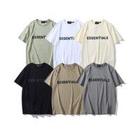 2021 Мужские футболки мужские футболки мужские футболки унисекс хлопок с коротким рукавом футболка необходимая тройник случайные спортивные наряды фитнес одежда