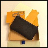 Com caixa tecla bolsa M62650 Pochette cles designers moda mulheres homens chaveiro titular de cartão de crédito bolsa de moeda mini carteira bolsas de couro bolsas