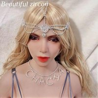 Hair Clips & Barrettes 2021 Bohemian Fashion Women's Shining Crystal Headband Bridal Wedding Rhinestone Forehead Retro Jewelry
