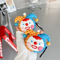 Cases For AirPod 2 3D Funny Circus Clown Cartoon Soft Silicone Wireless Earphone Cover For Apple Airpods Pro Case Cute Cover Funda