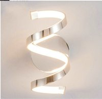 Artpad 12W Modern Living Room Wall Lights For Home Spiral Design 96 pcs LED Beads TV Background Bedside Lamp White Gold Silver