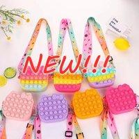 NEW! Fidget Toys Relieve Adult Stress Soft Decompression Toys Kawaii Children Messenger Bag Cute Anime Coin Purse