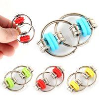 Decompression Toy Fiet Toys Key Chain for Autism Antistress Set Anti Stress Relief Bike Spinner Metal Ring Puzzle Sensory