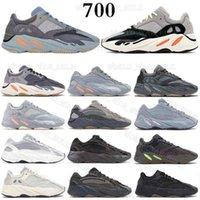 700 V2 Kanye West 3M Светоотражающие оранжевые костные волны бегун мужчин женщин кроссовки кроссовки с твердым серым аналогом Tael Carbon Blue Designer обувь