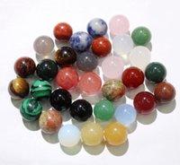 Interi 50 pezzi di agati naturali turchesi cristallo lapis 10mm no foro rotondo perline di pietra rotonda per fare gioielli fai da te
