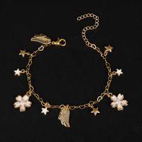 and Korean Japanese fashion DIY cute BRACELET MULTI PENDANT HANDMADE Mocha Sakura alloy bracelet