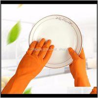 اللاتكس للماء الأعمال المنزلية تنظيف Nonslip الشتاء غسل أطباق غسل الملابس المطاط قفازات للمنزل المطبخ أداة klimo izgxt