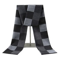 Mens Winter Keep Warm Plaid Checked Blanket Scarf Textile Soft Comfortable Daily Casual All-match Scarves Tartan Shawl Travel Out Door Gift JY0822