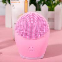 Brosse de nettoyage de visage électrique de silicone ultrasonore Sonic Face Nettoyant nettoyant peau Mini lavage de masseur pinceau rechargeable 948 R2