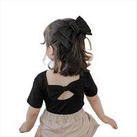 Vidmid Bebek Çocuk Pamuk Kızlar Tatlı Güzel Yaz T Shirt Ince Çocuk Gündelik Kısa Kollu Dip Tops P2024