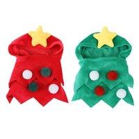 Costume di Natale Cucciolo di Natale Mantello con Pompoms Star per gatti Piccolo animale domestico Compleanni di Halloween e varie occasioni