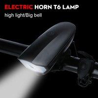 Faros de luces de bicicleta con súper ruidosa bicicleta bocina cuerno impermeable USB recargable Ciclismo Frente