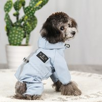 Impermeable Perro Perro Ropa Chaqueta Ropa Para Ubranka Dla PSA Para Bulldog Francés Chihuahua PET Abrigo Impermeable Roupa Puppy Abrigo 1279 V2