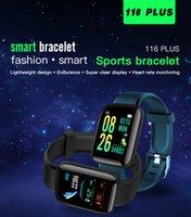 Fitness-Tracker ID116 plus Smart Armband mit Herzfrequenz Smart Blutdruck-Armband 116 plus F0 116plus