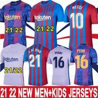 10 ميسي 21 22 ممفيس كون aguero لكرة القدم الفانيلة camiseta de futbol 2021 2022 برشلونة ansu fati fc grizmann f.de جونغ pedri dembele كرة القدم قميص الرجال الاطفال مجموعات S-XXL